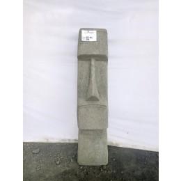 Estatua jardín zen Moái rostro alargado de piedra volcánica 100 cm