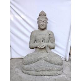 Exterior zen estatua de Buda sentado posición chakra 1 m