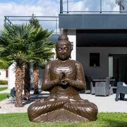 Grande Statue 2 m Bouddha assis en fibre de verre position chakra