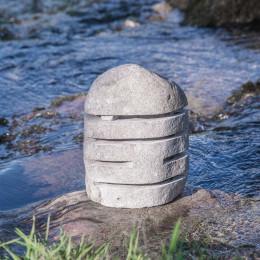 Lámpara de piedra de río para jardín 30-35 cm