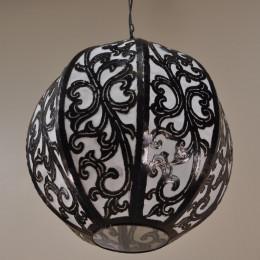 Lámpara de techo araña de acero deco 40cm