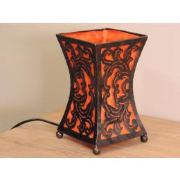 Lampe en acier cintrée orange 20 cm