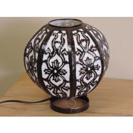 Lampe en acier ronde blanc 22 cm