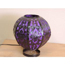 Lampe en acier ronde violet 22 cm