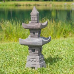 Lanterne japonaise en pierre de lave 85cm