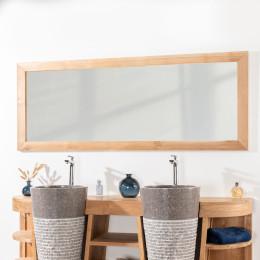 Large rectangular solid teak mirror 180 x 70