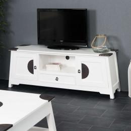Meuble en bois acajou TV Thao blanc 150
