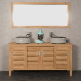 Meuble en teck salle de bain TEMPO 160 CM