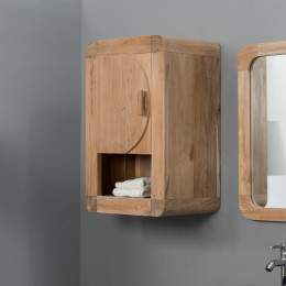 Mueble para cuarto de baño armario de baño de teca Retro 44 cm