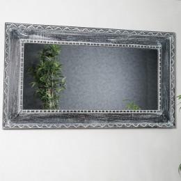 Ceruse wood mirror 140 x 80 cm