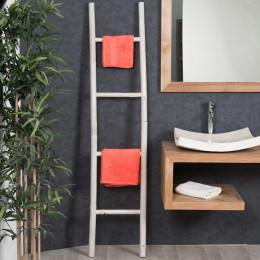 échelle porte serviette bambou salle de bain