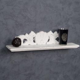 Repisa Barroco blanca 50 cm