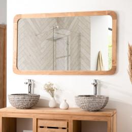 large teak mirror 120 cm