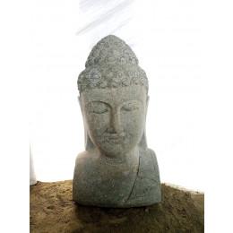 statue de jardin buste de Bouddha deco zen 70 cm