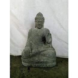 Statue en pierre de Bouddha position chakra jardin 60 cm
