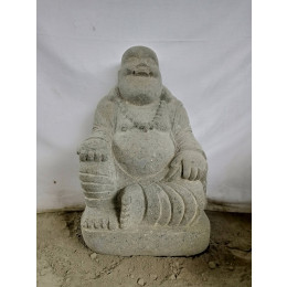 Statue en pierre de lave HAPPY BOUDDHA 60 cm