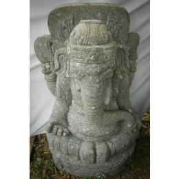 Statue en pierre extérieur zen Ganesh 100 cm