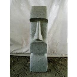 Statue en pierre naturelle Moai jardin zen 60 cm