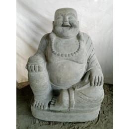 Statue en pierre volcanique BOUDDHA RIEUR 105 cm