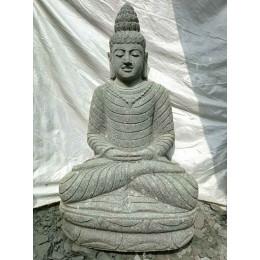 Statue en pierre volcanique collier déco zen de jardin 1m20