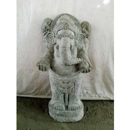 Statue en pierre volcanique GANESH Indouhisme 80 cm