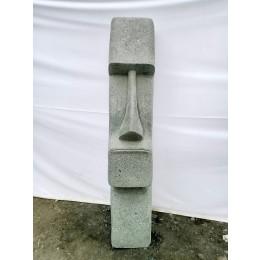 Statue en pierre volcanique Moaï visage allongé 120 cm