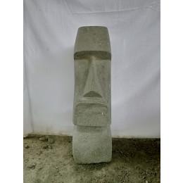 Statue île de pâques moaï roche volcanique 60 cm