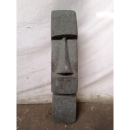 Statue île de Pâques Moaï en pierre naturelle 60 cm
