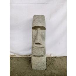 Statue île de pâques moaï roche volcanique de 60 cm