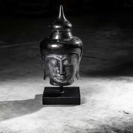 Tête bouddha grand modèle Noir 73 cm