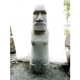 Tiki d'océanie statue en pierre volcanique 1.50m