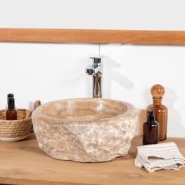 Vasque de salle de bain à poser en pierre Onyx 30-35 cm