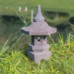 zen volcanic rock Japanese garden lamp