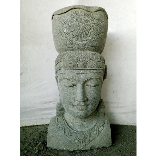 Balinese goddess volcanic rock garden jar statue 80 cm