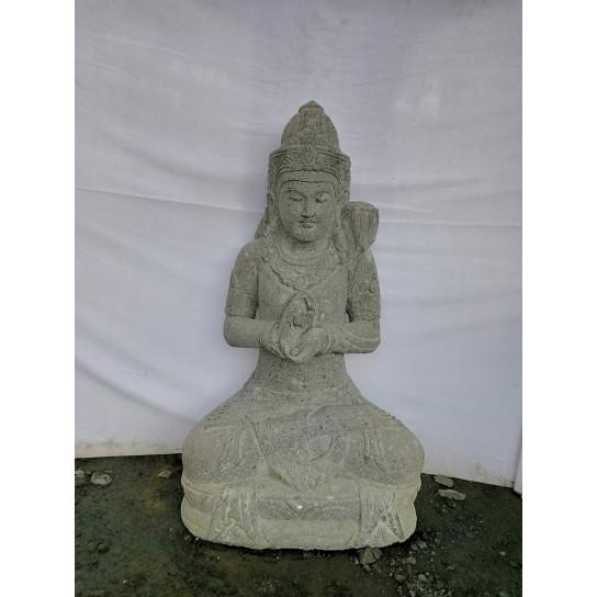 Balinese goddess volcanic rock garden statue 1 m