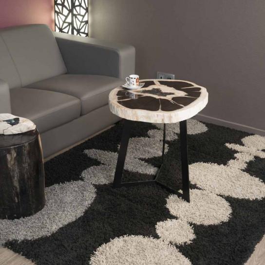 bout de canap meuble en bois bois p trifi 55 x 60 cm. Black Bedroom Furniture Sets. Home Design Ideas