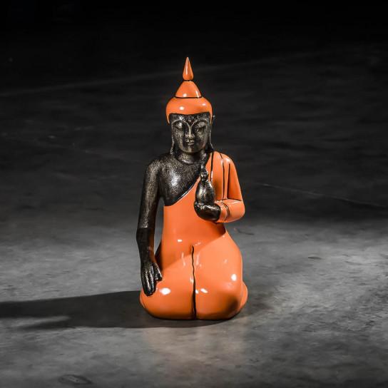 Buda bienestar de rodillas modelo pequeño naranja 44 cm