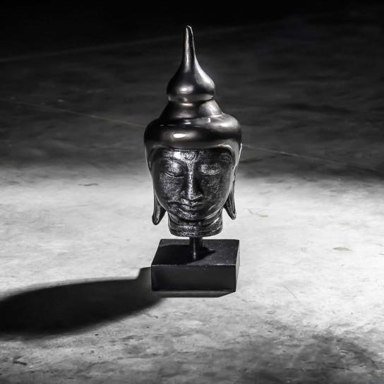 Cabeza de Buda modelo pequeño negro 40 cm