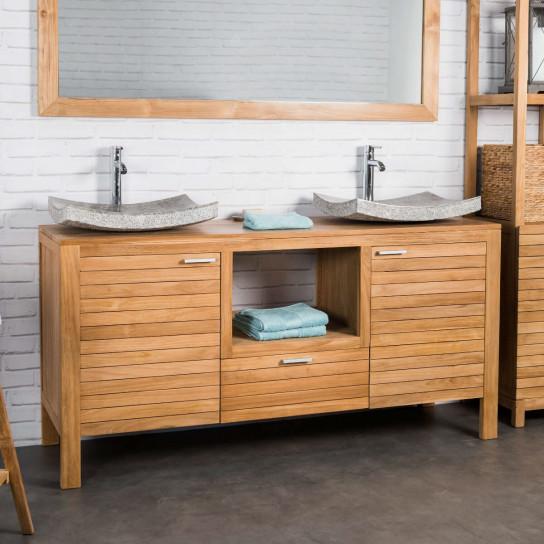 Courchevel teak bathroom vanity unit 160