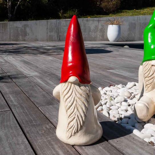 Déco moderne gnome jardin 50 cm rouge