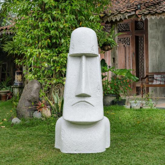 Easter Island giant Moai garden statue in fiber cement 200 cm