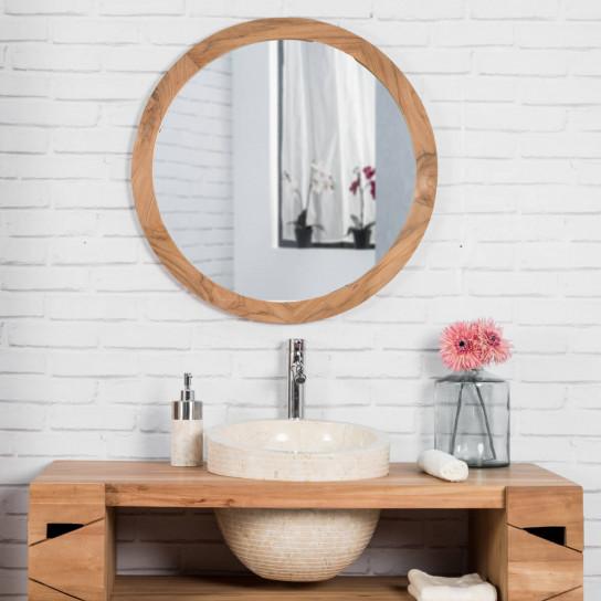 Eden round cream sink
