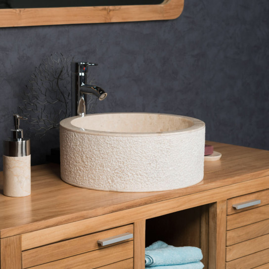 Elba cream marble countertop bathroom sink 40 cm