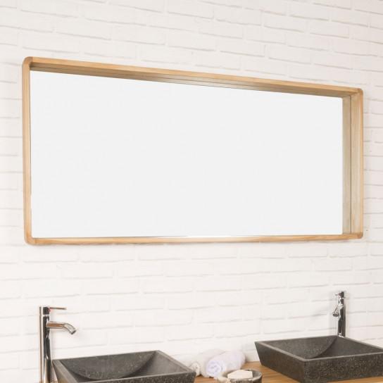 Espejo de cuarto de baño de teca Samba 140 x 65 cm
