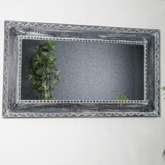 Espejo Palermo de madera con pátina lacada 140 x 80 cm