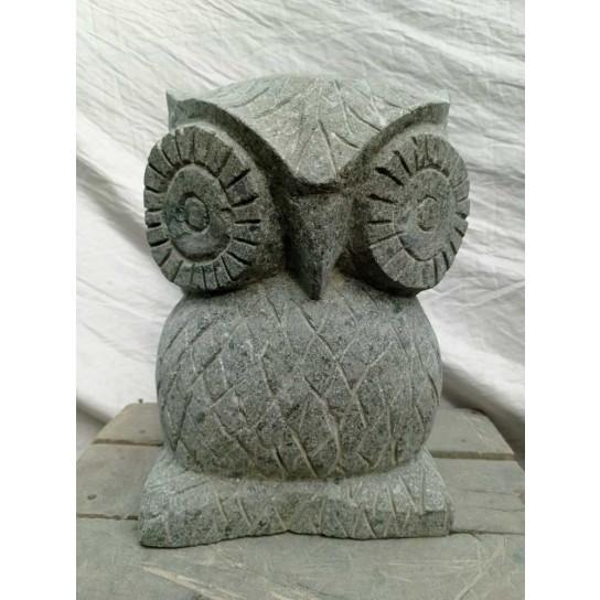 Estatua de búho de piedra natural 30 cm