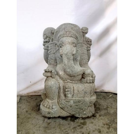 Estatua de Ganesh de piedra para jardín 50 cm