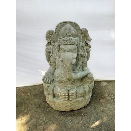 Estatua de jardín de piedra ganesh jardín hinduismo 100 cm