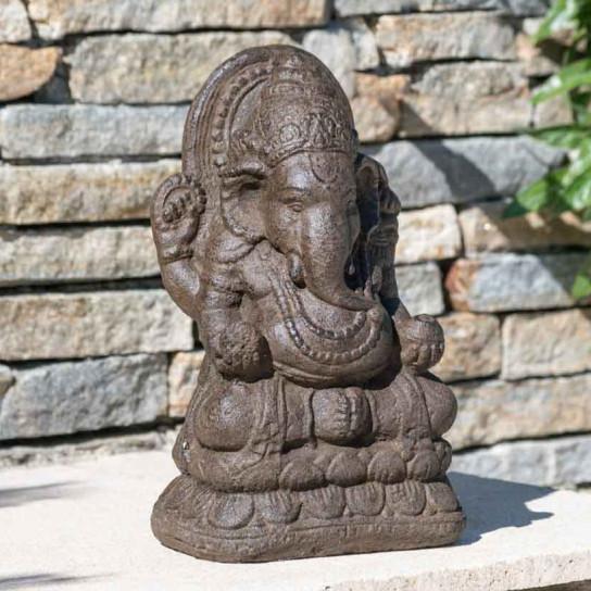 Estatua Ganesh 40 cm marrón envejecido