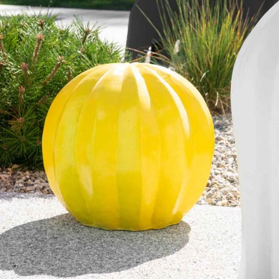 Estatua jardín decorativa cactus amarillo 45 cm